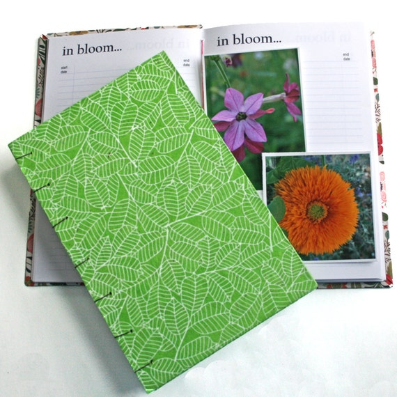Garden Journal The Essentials with spring leaf green cover