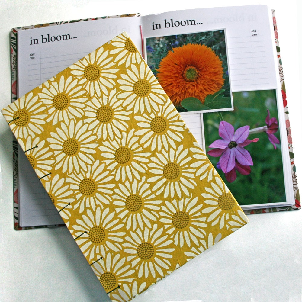 Garden Journal The Essentials with yellow daisy cover