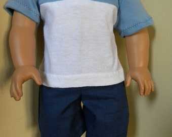 shorts and polo shirt for 18 inch doll