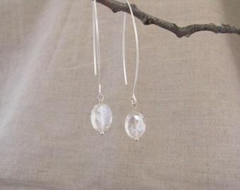Mystic Quartz Earrings Mystic Quartz Long Dangle Earrings