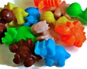 Dinosaur Soap - Dinosaurs - 12 Soaps - Individually Packaged - Free U.S. Shipping -  Birthdays - Soap for Kids - Party Favors