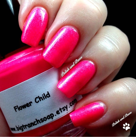 Neon Pink Nail Polish Fluorescent FLOWER CHILD UV