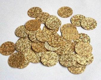 50 Shiny Textured Metallic Golden Sequins/ Code PRS148 / Embellishments / Embroidery