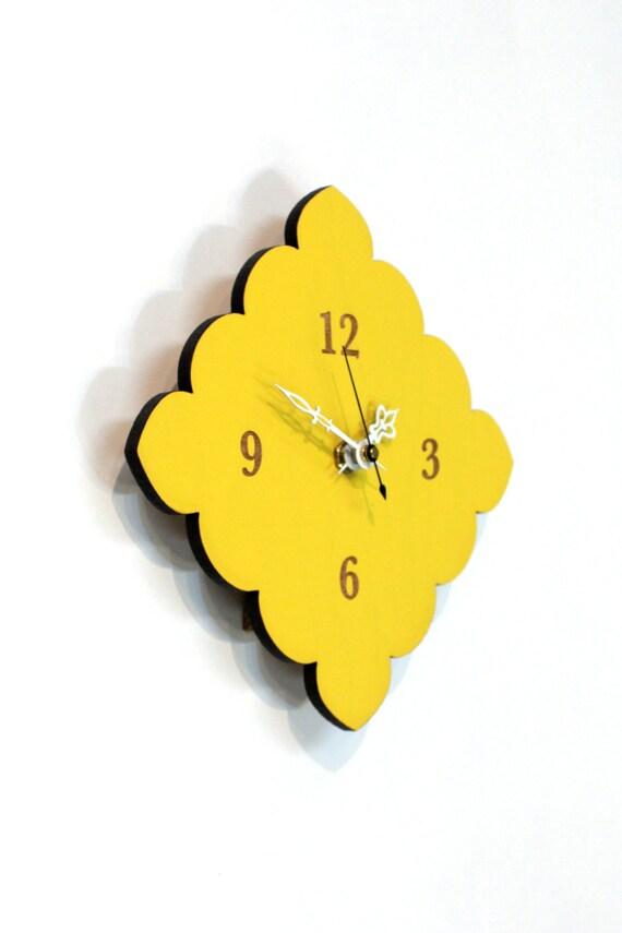 Kleine Pilgermuschel Uhr Küche-uhr Badezimmer Uhr Badezimmer Zitronengelb