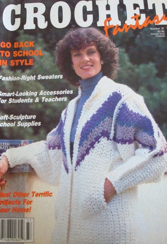 Crochet Fantasy Magazine : Patterns-Crochet Fantasy No 37 July 1987 Back To School Magazine/Women ...