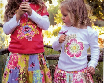 On Sale!  The Patchwork skirt & t-shirt pattern (PFP008) - Pink Fig