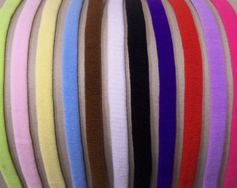 INTERCHANGABLE Skinny Soft Stretch Baby Headband---You Pick Color---