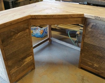 YOUR Custom Made Rustic Barn Wood Corner Desk FREE SHIPPING-RBWCD1500F