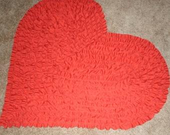 Heart-Shaped Rug,NurseryRug,KidsRug, BabyRug,Children'sRug, RuffledRug, PrincessRug, BoyGirlRugShagRug, ShagRagRug,