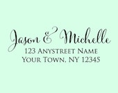 Self inking custom Personalized Return address Name rubber stamp R264