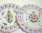 French Faience Pottery Plates - La Faiencerie - Duran Martres
