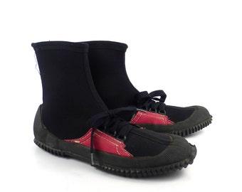 Aqua Sox Shoes Vintage 1970s Booties Diver Diving Summer Sandals