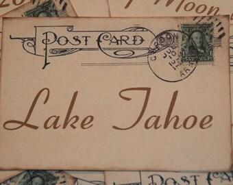 Destination Wedding Table Cards, Wedding Destinations Printed on Postcards