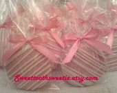 Pink Chocolate Covered  Oreos Cookies It's A Girl Pink Baby Shower Wedding Favors Christening Gender Reveal Party Pink Princess Christening