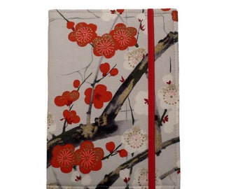 Kindle Cover Hardcover, Kindle Case, eReader, Kobo, Nook, Nexus 7, Kindle Fire HDX, Kindle Paperwhite, Golden Garden Cherry Blossom