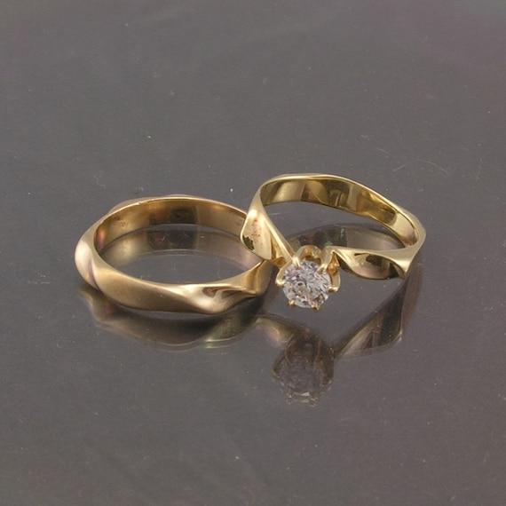 Artisan Designed Wedding Band Handmade Designer Ring Unique 39 Twist