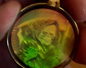 Awesome 1960s Hologram Pendant GRIM REAPER Design
