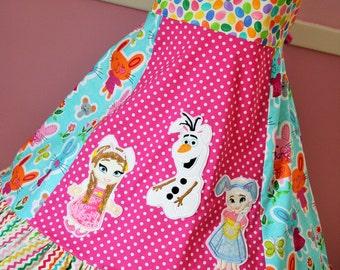 Disney Frozen Easter Grace Ruffle Dress 7/8 RTS