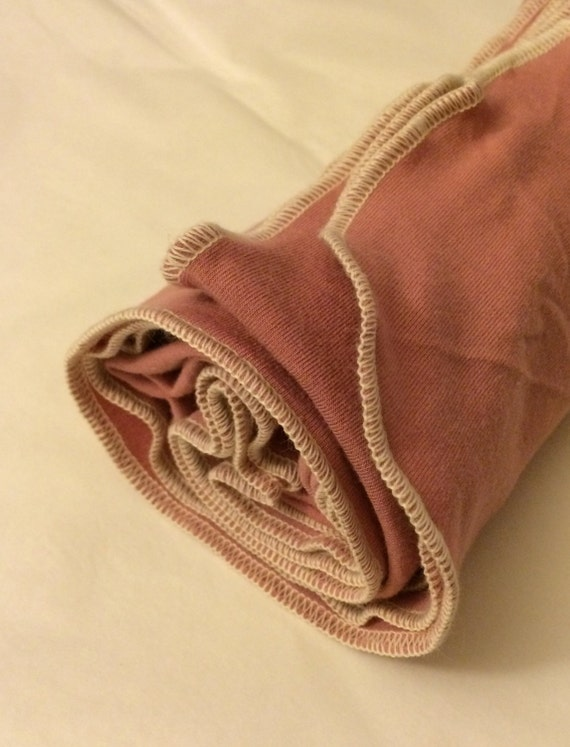 RESERVED for Nick - bamboo organic cotton swaddle blanket - orchid pink