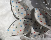 Heart Candies Candy dish/Sundae dish/ love/ Valentines/wedding/gift/OOAK