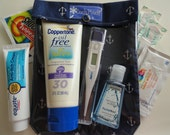 Navy Anchors JuJuBe Diaper Bag Companion Ouch Pouch Clear Pocket First Aid Organizer Purse Insert Large 6x8
