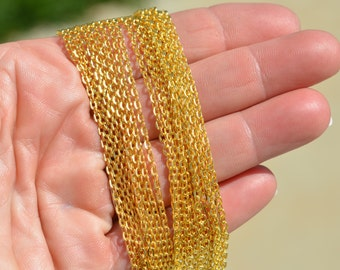 10 Meters Gold Plated  Chain C920