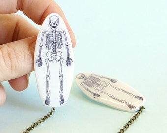 Skeleton Cardigan Pins