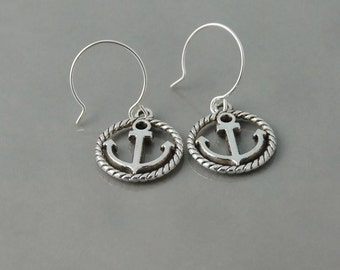 Silver Anchor earrings Anchor earrings embark