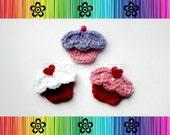 Sweet Cupcake Applique - CROCHET PATTERN