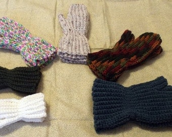 Crochet Mittens Pattern Instant Download Knitting Worsted Baby Toddler Small Child Medium Child Large Child Ladies Mens