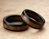 Custom Ebony Wamara Ring Set - 7mm