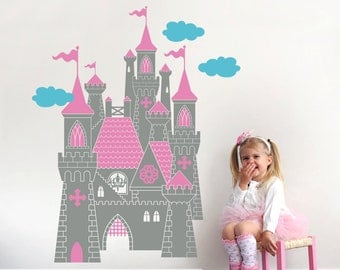 Castle Wall Decal: Fairy Tale Princess Castle Decal