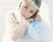 Daniella blush and pearl romantic beaded wedding belt