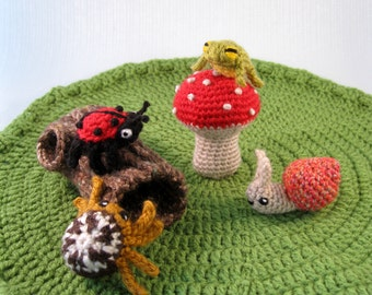 Mini Pets - Snails, Bugs and Frogs Amigurumi Patterns PDF