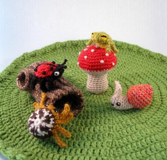 Mini Pets - Snails, Bugs and Frogs Amigurumi Patterns PDF