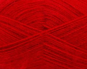 Red - Angora/Acrylic Sock Knitting Yarn, 100 grams