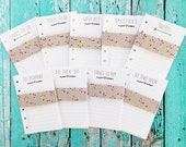 POCKET size Notes, To Do, Wish List, Groceries, & Errand Lists Inserts   > downladable digital printable< by Christy Tomlinson