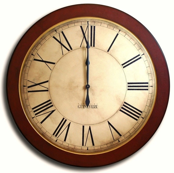 Items Similar To Large Wall Clock 24in Antique Style Wall