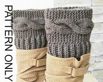 Knitting Pattern  Boot Cuffs  pattern Digital  Boot Toppers  PATTERN PDFwinter knitting   Leg Warmers   Pattern Boot Topper Instantdownload