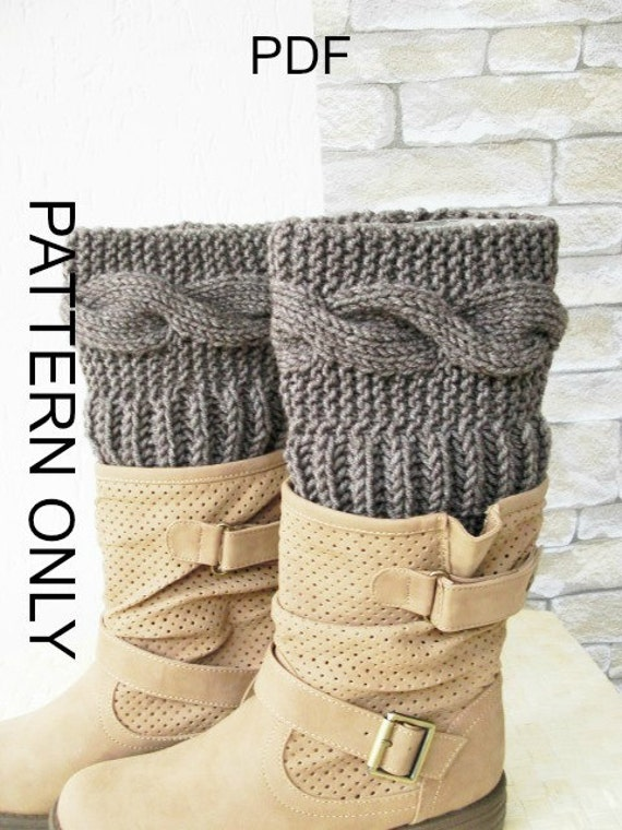 Knitting Pattern Boot Cuffs pattern Digital Boot Toppers