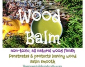 WOOD BALM--CEDARWOOD--All Natural for Spinning Wheels Wool Combs & Hackles Drum Carders 2 oz
