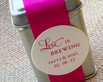 Love is Brewing Tea Tin DIY Wedding Favor wedding shower party