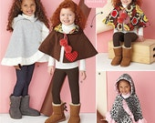Girls' Fancy Capes and Ponchos - Simplicity 1263 - New Sewing Pattern, Sizes Small, Medium, and Large