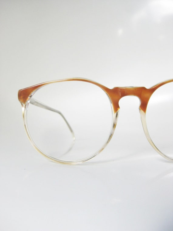 Frame Of Glasses In French : Round Horn Rim Eyeglasses 1960s Jean Lafont Vintage Deadstock