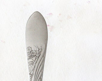Spoon Key Chain Silverware Keychain Spoon Key Ring in the Cashmere Pattern by Ogdenarthaus