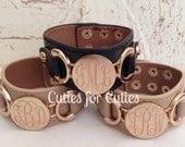 Bracelet Monogram Cuff Personalized-ENGRAVED