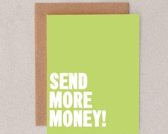 send more money // greeting card // skel // skel design // skel & co