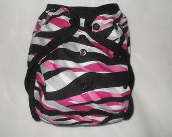 Striped PUL Diaper Cover