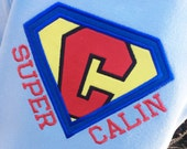 Boys Superhero Shirt on LIGHT BLUE