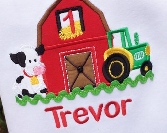 Farm  Themed birthday tee